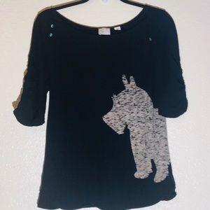 Anthropologie Westin Scottie light sweater top